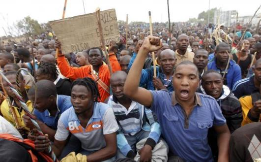 Marikana workers strike