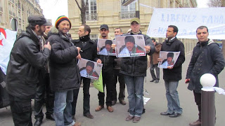 Demonstration in support of Tahar Belabes