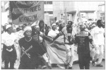 Anarchist banners at World Conference Against Racism, Durban, 2001 [1]