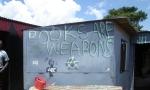 Anarchist graffiti at Motsoaledi squatter camp, Soweto, 2006 [1]