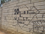 Anarchist graffiti at Motsoaledi squatter camp, Soweto, 2006 [4]