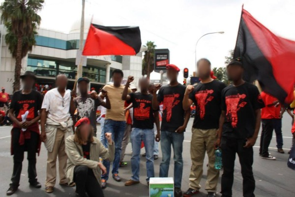 Zabalaza and Tokologo activists at NUMSA march, 19 March 2014